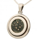 Genuine Widow's Mite Coin in Sterling Silver Frame Pendant