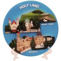 3D Souvenir Decorative Plate - Holy Land Sites - Jesus Ministry