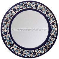 Armenian Ceramic Flowered Mirror