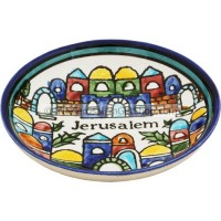 Armenian Ceramic Round Jerusalem Dish