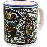 Large Armenian Ceramic 'Tabgha' Mug