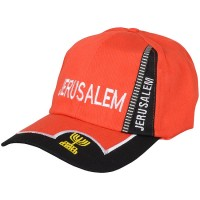 Baseball Cap - Jerusalem Menorah - Red