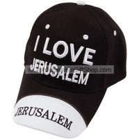Baseball Cap - I Love Jerusalem - Black
