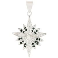 White gold-filled 'Bethlehem Star' Pendant with Zircon