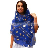 Biblical Scarf - Blow The Trumpet in Zion - Blue
