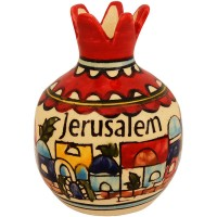 Ceramic Pomegranate - Jerusalem Design