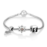 'GraceLet - BraceLet' Biblical Elements - Lion of Judah, Star of David with Hoshen - Menorah