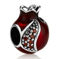 'Gracelet Bracelet' - Red Royal Pomegranate with Crystal Seeds by Marina