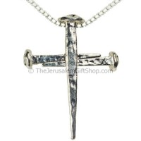'Cross of Nails' Silver Pendant