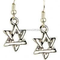 Star of David Intertwined Earrings