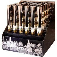 Display Case of Gold Metallic Jerusalem Skyline Pens