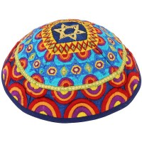 'Emanuel' Star of David Rainbow Kippa
