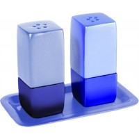 Yair Emanuel | Salt & Pepper Shakers | Anodized Aluminum | Two Tone Blue
