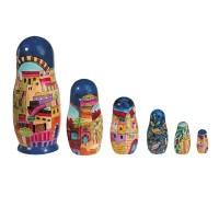 Yair Emanuel Hand-Painted Babushka Dolls Set - Jerusalem
