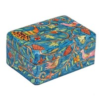 Yair Emanuel Hand-Painted Jewelry Box - Wildlife (small)