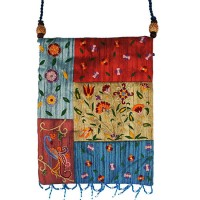 Patchwork Silk Embroidered Bag - Multicolor