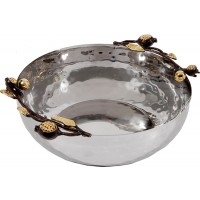 Yair Emanuel | Pomegranate Stainless Steel & Copper Bowl | Large