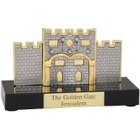 'The Golden Gate' - 'Eastern Gate' in Jerusalem - Gold Plated Ornament