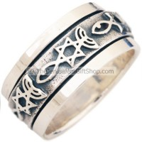 Grafted In - Messianic Symbol Revolving Ring
