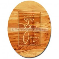 Olive Wood Wall Plaque - Grafted In