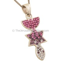 'Grafted In' Pendant with Shades of Pink Zircon from Menorah