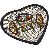 Armenian Ceramic Heart 'Tabgha' Dish