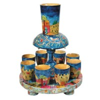 Holy Land Harvesters - The Lord's Supper - Fountain Set Cups - Wooden - Jerusalem