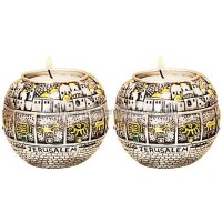 12 Tribes Jerusalem Candle Holder (pair)