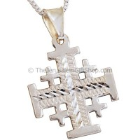 'Jerusalem Cross' Pendant with Etched Pattern