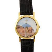 Church of Holy Sepulcher in Jerusalem Watch with Gold Face