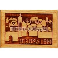 Olive Wood Magnet - Jerusalem Old City