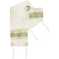 'Jerusalem of Gold' Tallit - Prayer Shawl with Matching Bag and Kippa