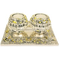 Jerusalem Ball Candle Holders on Tray