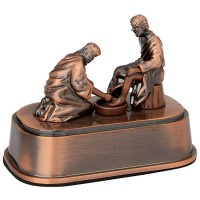 Jesus Washing Peter's Feet - Biblical Scene Ornament