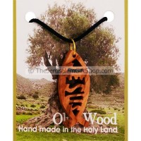 Jesus Fish Olive Wood Pendant