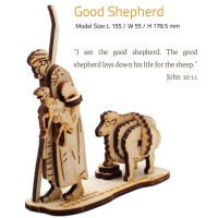 THE GOOD SHEPHERD | DIY Wood 3D Puzzle | Educational Self Assembly Craft | Made in the Holy Land