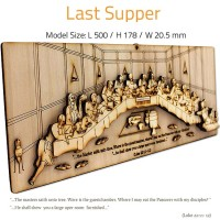 LAST SUPPER | DIY Wood 3D Puzzle | Educational Self Assembly Craft | Made in the Holy Land