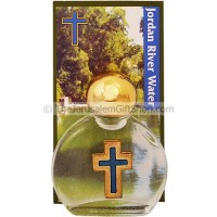 Jordan River Water - Small Bottle with Cross