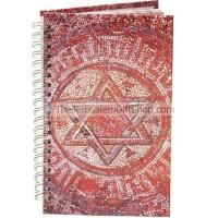 Spiral Hard Cover Notebook - Star of David