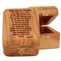 Olive Wood 'Lord's Prayer' Box from Bethlehem