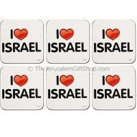 'I Love Israel' Coasters - Set of Six