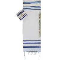 Prayer Shawl Tallit - Blue and Gold with Star of David