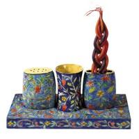 Yair Emanuel Havdala Shabbat Set - Flowers