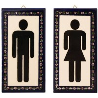 Armenian Ceramic Men's & Women's Door Signs