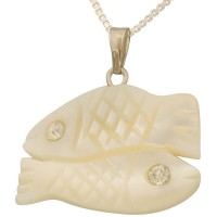 Mother of Pearl 'Pair of Fishes' Pendant