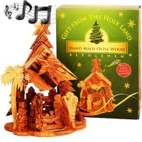 Musical Olive Wood Nativity - Silent Night