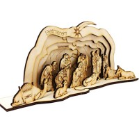 Nativity Set | DIY Wood 3D Puzzle | Educational Self Assembly Craft | Made in Israel