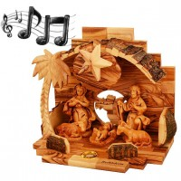 Musical Nativity Scene - Mary Joseph and Jesus