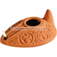 Clay Oil Lamp - Byzantine - replica
