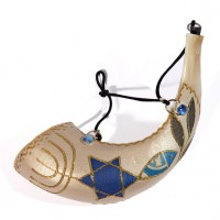 Anointing Rams Shofar Decorated with 'Grafted In'